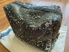 Tory Burch Silver Sequins Large Cosmetic Pouch