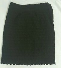 Rebecca Moses Black Eyelet Lace Pencil Skirt 2