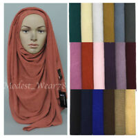 Premium Quality Crinkle Chiffon Maxi Hijab Scarf Muslim Headcover 18 Colors