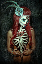 Get Down Art Key to My Heart Poster Day of the Dead Girl Skeleton