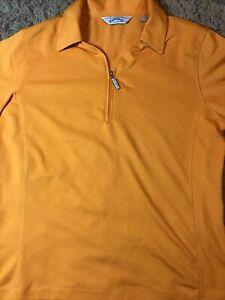 Callaway Golf Polo Women's Size Medium  Top Shirt Orange Mellon Reflective