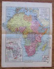 Afrika Africa - alte Landkarte Karte old map 1928