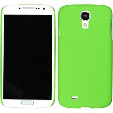 Coque Rigide Samsung Galaxy S4 - gommée vert + films de protection