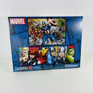 Marvel Avengers 2 X 1000 Piece Jigsaw Puzzle CLEMENTONI High Quality Panorama