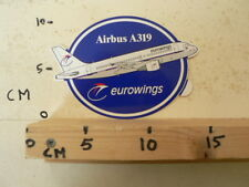 STICKER,DECAL EUROWINGS A319 AIRPLANE AIRLINES