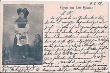 AK gruss de l'Alsace 1902 > Erzingen cidessus Balingen Wurtemberg prennent