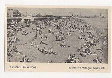 Kent, Folkestone, The Beach, Hamlin Postcard, A742