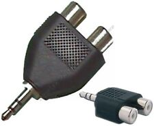 """1/8""""Stereo Male~Dual RCA~Female Audio/PC/MAC/Phone/IPOD/MP3~AUX Adapter{NO CABLE"""