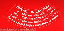 HONDA CB1100R CB1100RB CB1100RD TACHOMETER BREAK-IN CAUTION WARNING DECAL