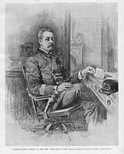 NEW YORK POLICE 1896 HISTORY, SUPERINTENDENT MURRAY OF THE NEW YORK POLICE FORCE