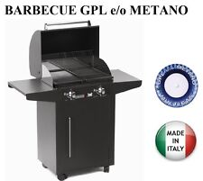 BARBECUE PIASTRA GAS 626/A PERSONAL 2 FUOCHI MULTIGAS GPL o METANO  MODULABILE