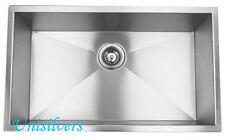"23"" Single Bowl Stainless Steel Zero Radius Kitchen Sink"