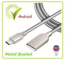 USB FAST Data Charger Cable Lead for Samsung Galaxy S4 S5 S6 S7 Edg Metal