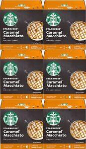 Nescafe DOLCE GUSTO - Starbucks Caramel Macchiato Coffee Pods 12 Capsules 6-Pack