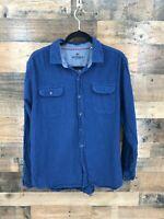 Woolrich Men's Navy 100% Cotton Long Sleeve Button Up Shirt Size XL