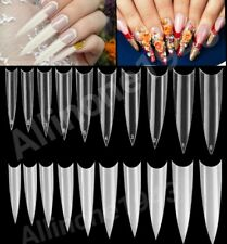 100/500/1000 pcs Long Stiletto French False Fake Nail Tips