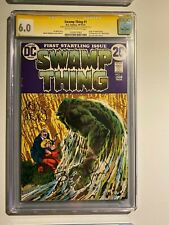 Swamp Thing #1 CGC 6.0 - Signed by Bernie Wrightson and Len Wein