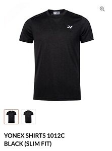 Yonex T Shirt 1012C Slim Fit Black (Asia XL= US M)