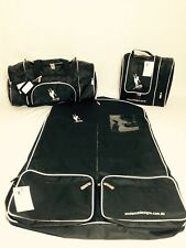 AMDance Designs Basic Black with White Trim Dance Bag Package