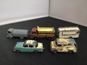 M26-MATCHBOX LESNEY LOT OF FIVE MODELS INC MOBILE CANTEEN