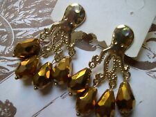 Orecchini polpo estate cristalli octopus vintage earrings