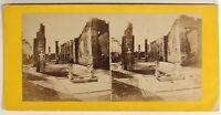 Pompei Italia Foto Stereo PL55L3n1 Vintage Albumina c1870