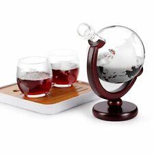 Whiskey Decanter Glass Set Globe Bottle Antique Ship 850ML Crystal Glasses