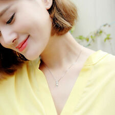 New Fashion Women 925 Silver Meow Cat Chain Pendant Necklace Charming Jewelry
