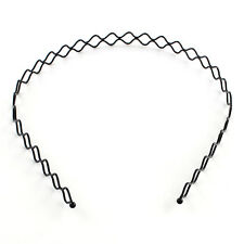 Wavy Hair Band Men's Women's unisex Accessories Hoop Band Headband black holder