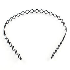 Wavy Hair Band Men's Women's unisex Accessories Hoop Band Headband black holder
