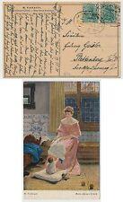 Bahnpost AACHEN-DORTMUND Z. 321, 1919 a. Künstlerkarte (26243)