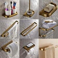 Vintage Antique Brass Bathroom Accessories Set Bath Hardware Towel Bar sset018