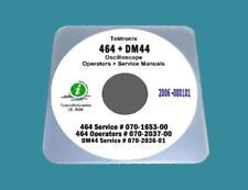 "Tektronix 464 Oscilloscope + DM44 Hi Resolution Manuals with 17""xc11"" Diagrams"