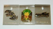 Batman Comic Image Joker, Batmobile & Batplane Metal Pins Set of 3, NEW UNUSED