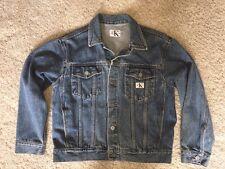 Calvin Klein Men's Denim Jean Jacket Vintage Made In USA Stonewashed Size Medium