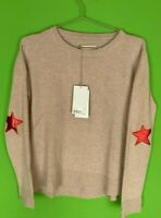 NWT Zadig & Voltaire CICI Cashmere Patch Pullover Sweater - XS
