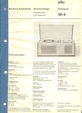 Braun Service Manual für Phonosuper SK 6