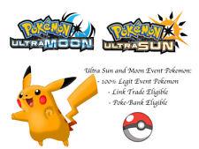 Pokemon Ultra Sun and Moon Tokyo Poke Center Shiny Pikachu Japan Event Pokemon
