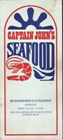 CAPTAIN JOHN'S SEAFOOD Restaurant Menu