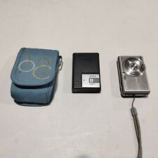 Sony Cyber-Shot DSC-S980 12.1MP Silver Digital Camera, Charger, & Case