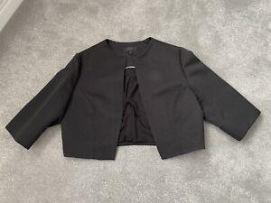 Ladies Black COAST Cropped Bolero Jacket - Size 18