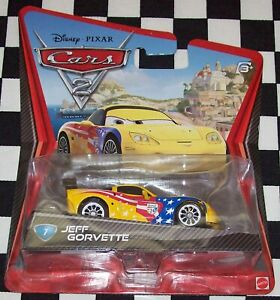 Mattel 2010 Disney Pixar Cars 2 # 7 JEFF GORVETTE