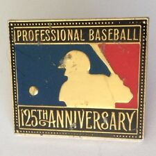 Professional Major League Baseball 125th Anniversary Pin Badge Authentic (N9)