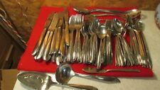 Oneida Community Stainless Steel Twin Star Atomic Age Set- 110 pcs