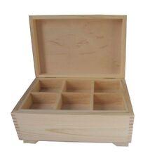 Boîte de bois de pin et plateau amovible dd118 bijoux anneau bijou de stockage