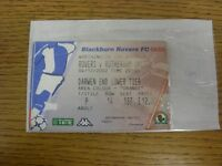 04/12/2002 Ticket: Blackburn Rovers v Rotherham United [Football League Cup] . A