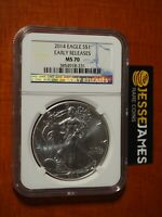 2014 $1 AMERICAN SILVER EAGLE NGC MS70 EARLY RELEASES BLUE LABEL