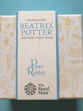 Beatrix Potter Peter Coniglio ARGENTO PROOF 2017 MONETE REGNO UNITO