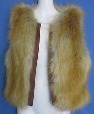 Women's Sanctuary Clothing Faux Fur Vest Open Front Size Medium New