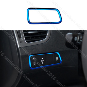 for HYUNDAI Elantra 2011-2016 blue Stainless headlight switch Decorative covers